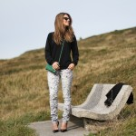 iro printed trousers