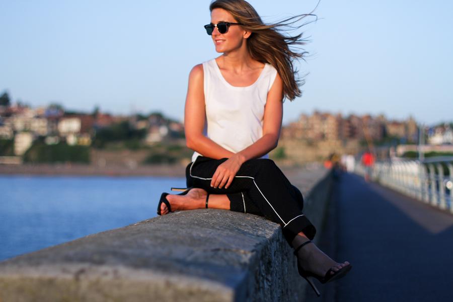IMG_0408 Clochet zara pyjama black and white trousers