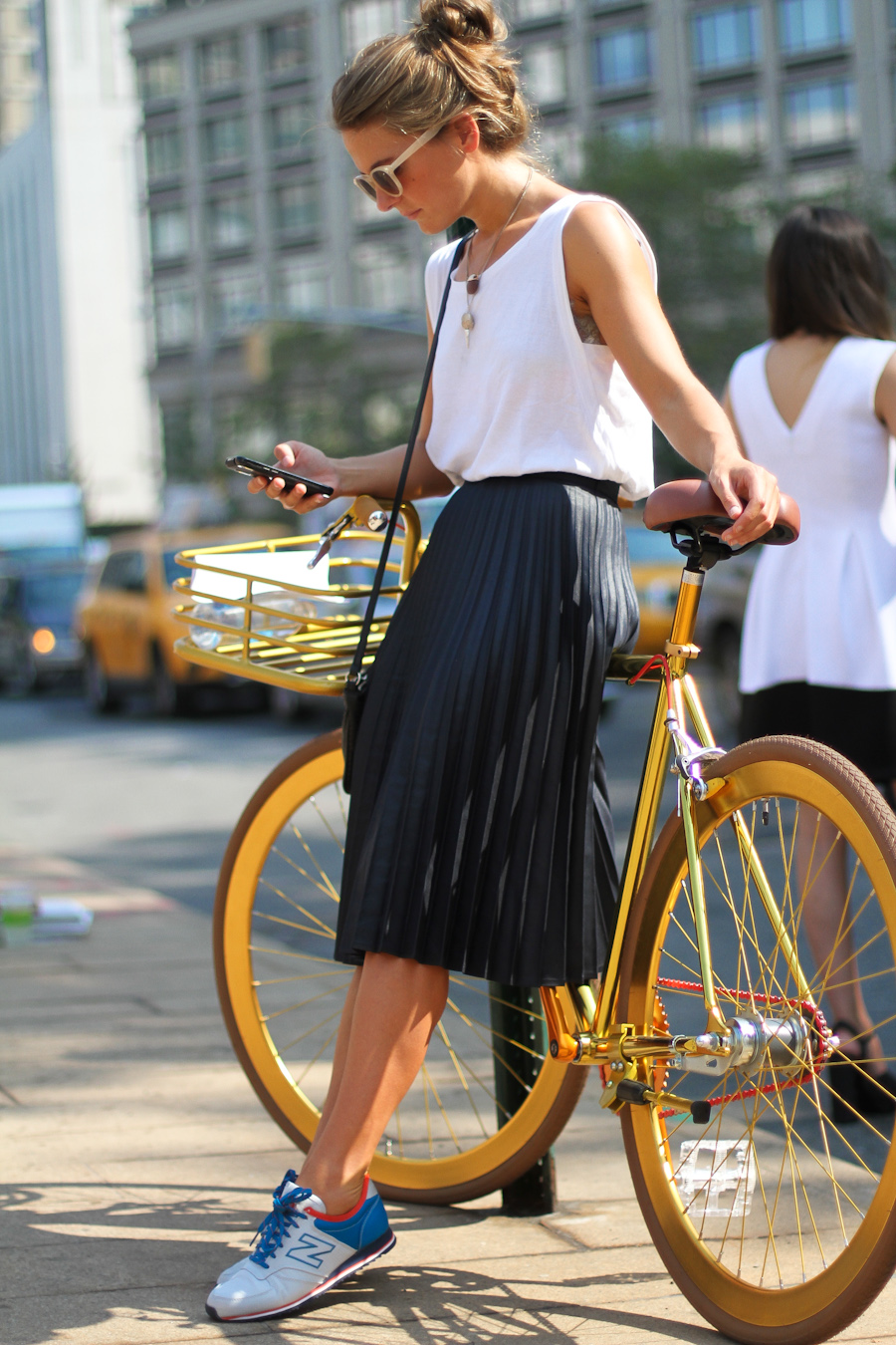IMG_6569-Clochet New York fashion week pleated skirt