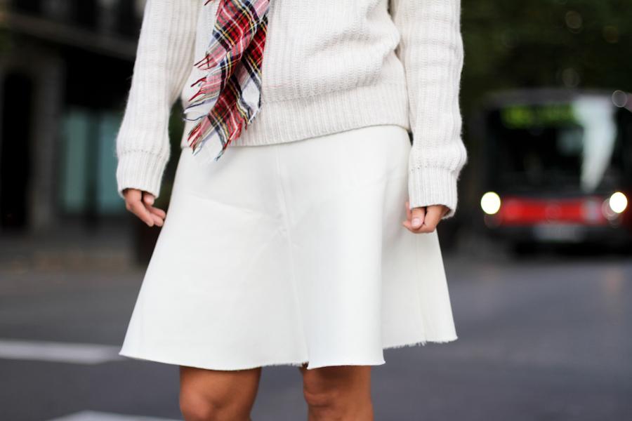 IMG_6022- Clochet White knit skater skirt zara