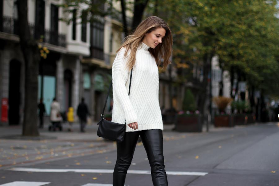 Clochet mango leather leggings mango knit-8