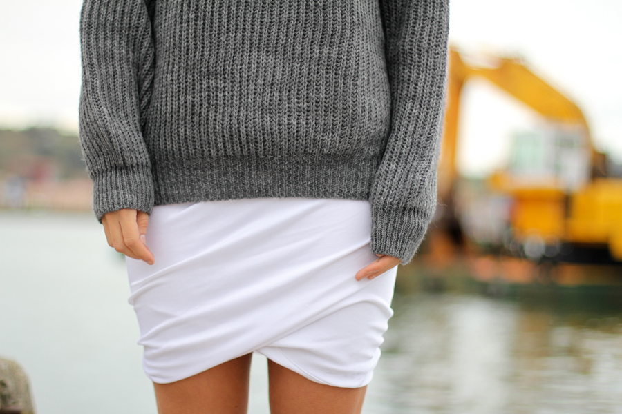 Clochet t by alexander wang skirt cozy knit-13