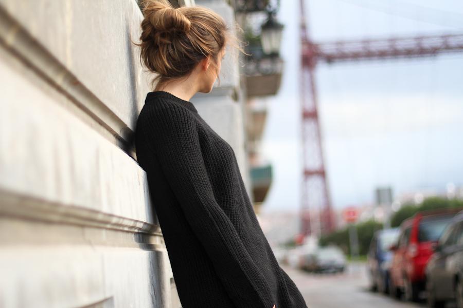 Mango leather trousers black knit leo slipons-1-5