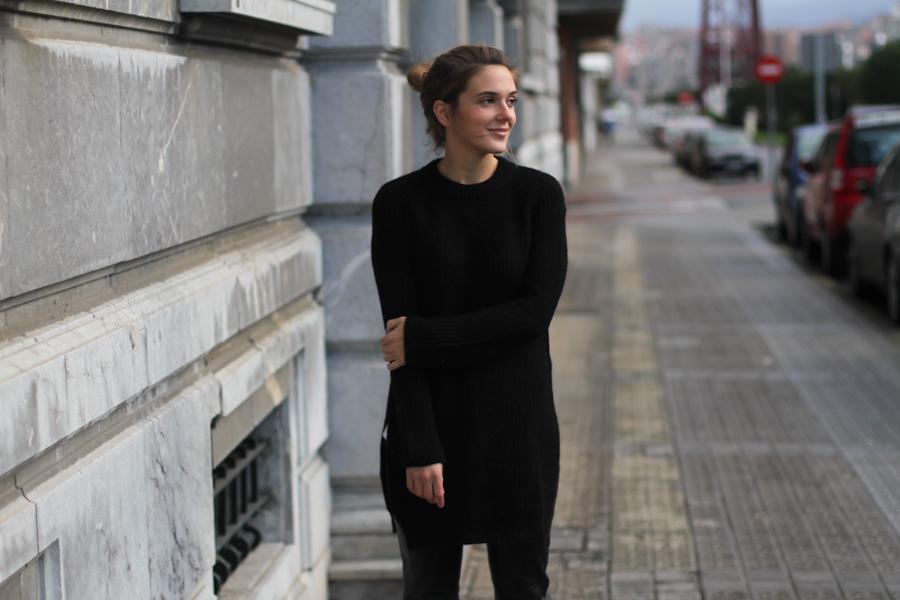 Mango leather trousers black knit leo slipons-1-7