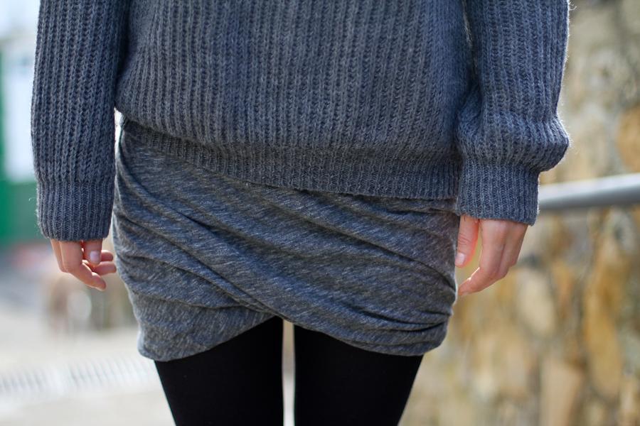 clochet american vintage grey twisted skirt-4