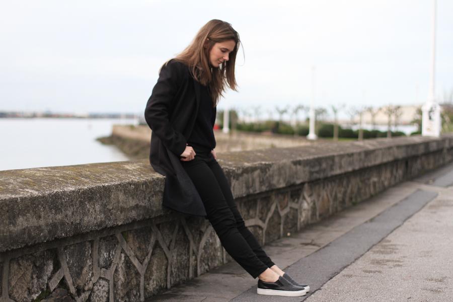 clochet - COS Coat - leather slipons - COS Sweater-11