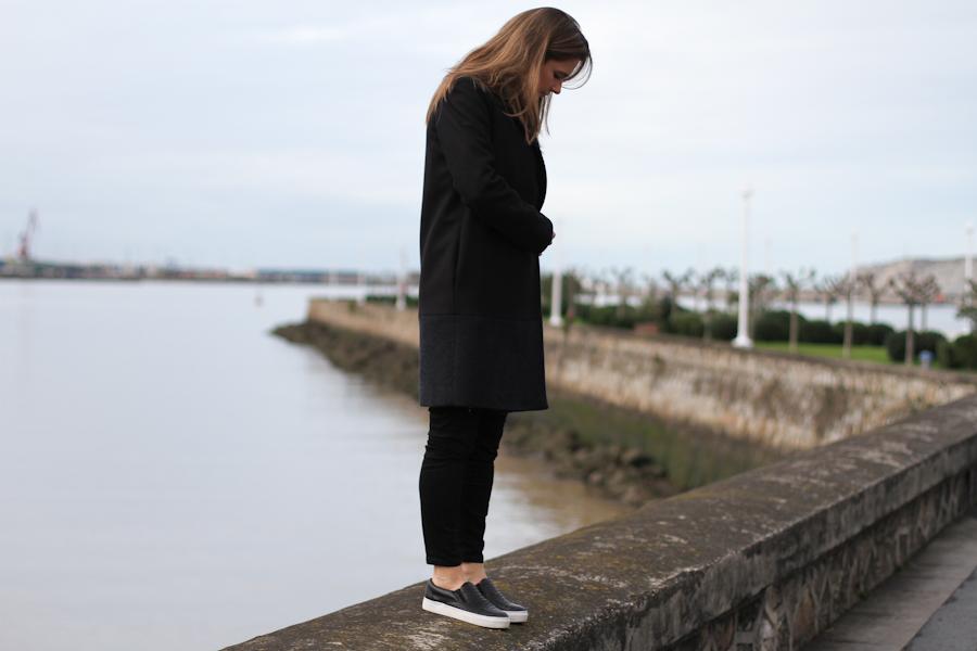 clochet - COS Coat - leather slipons - COS Sweater-2