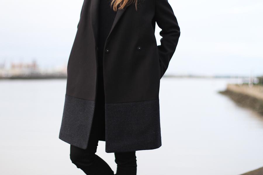 clochet - COS Coat - leather slipons - COS Sweater-4