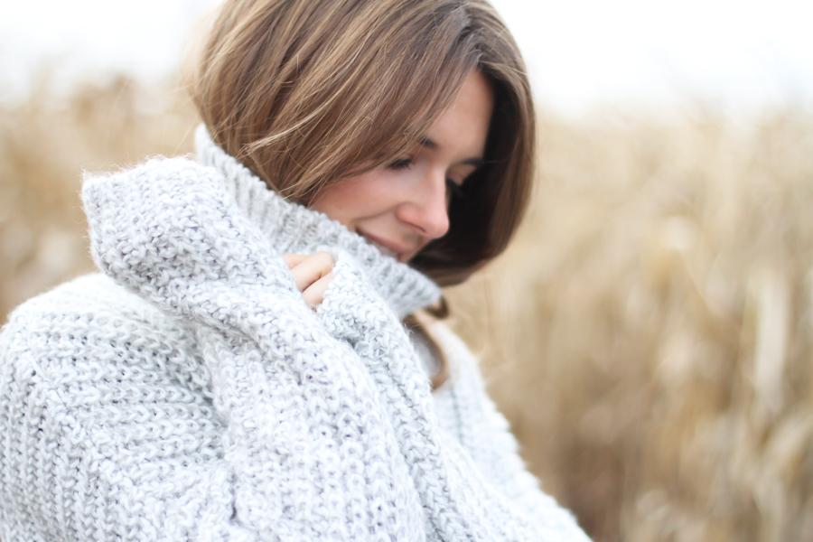 clochet - big oversized cozy turtleneck knit zara-2