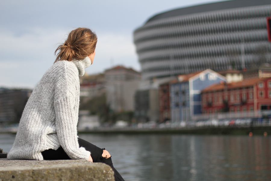 clochet - zara big cozy knit - isabel marant pour h&m oversized wool jacket-_-11
