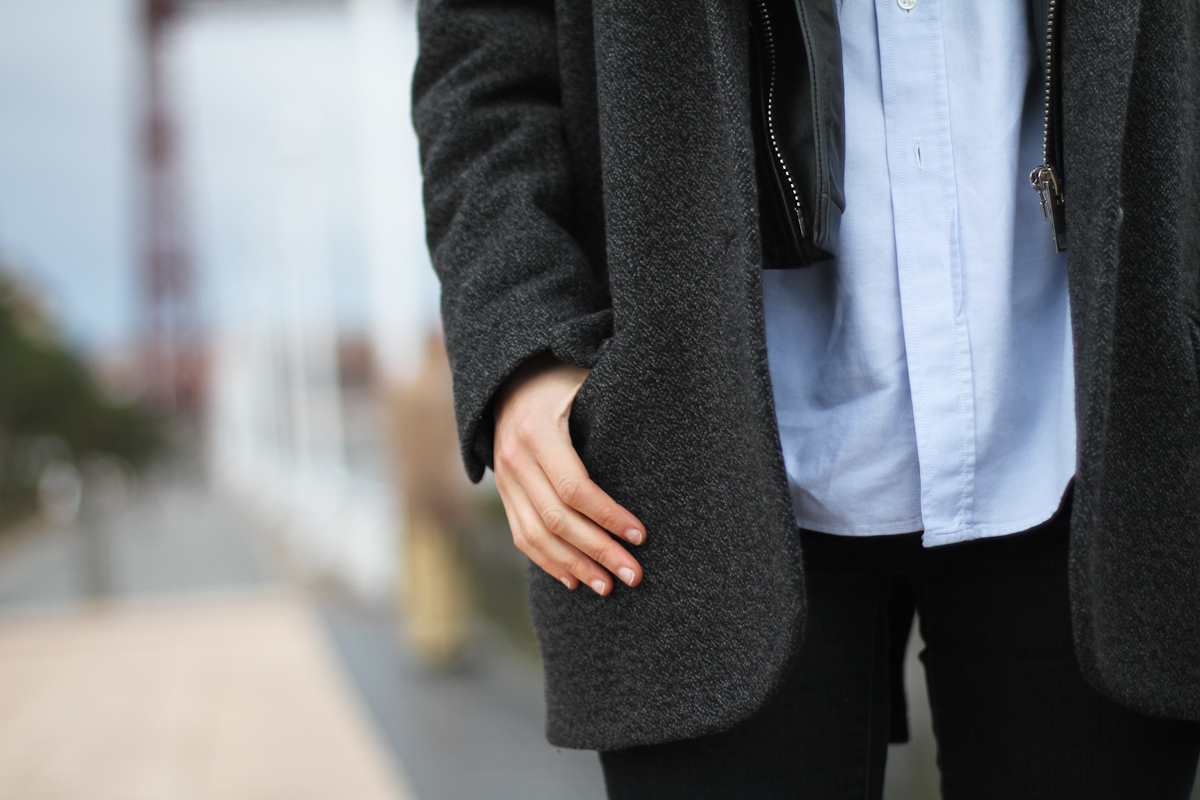 clochet - isabel marant pour h&m oversized jacket - zara black ankle boots - outfit - street style-5