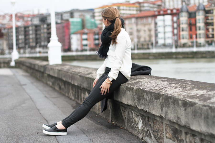 clochet - leather slipons - isabel marant jacket - zara coated jeans - daniel wellington watch-11