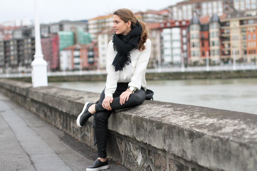 clochet - leather slipons - isabel marant jacket - zara coated jeans - daniel wellington watch-13