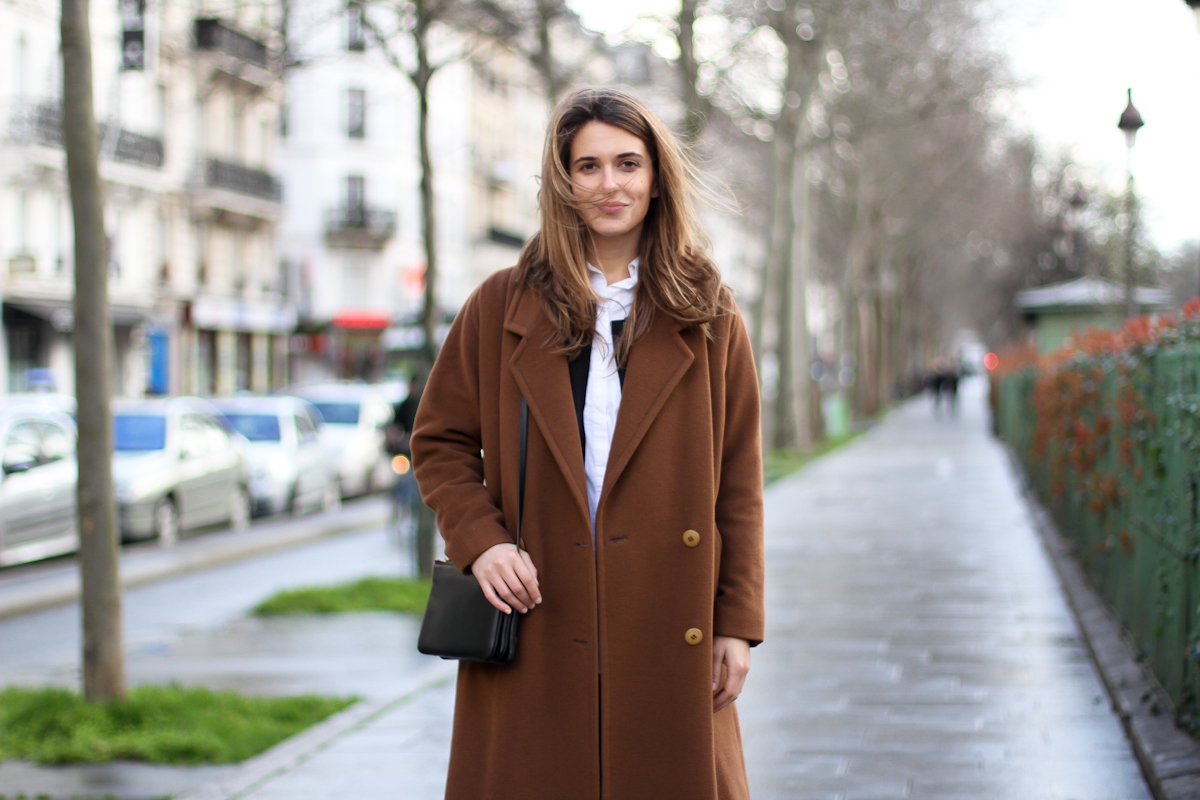 clochet - outfit - streetstyle - paris - brown long coat - mango bomber_-2