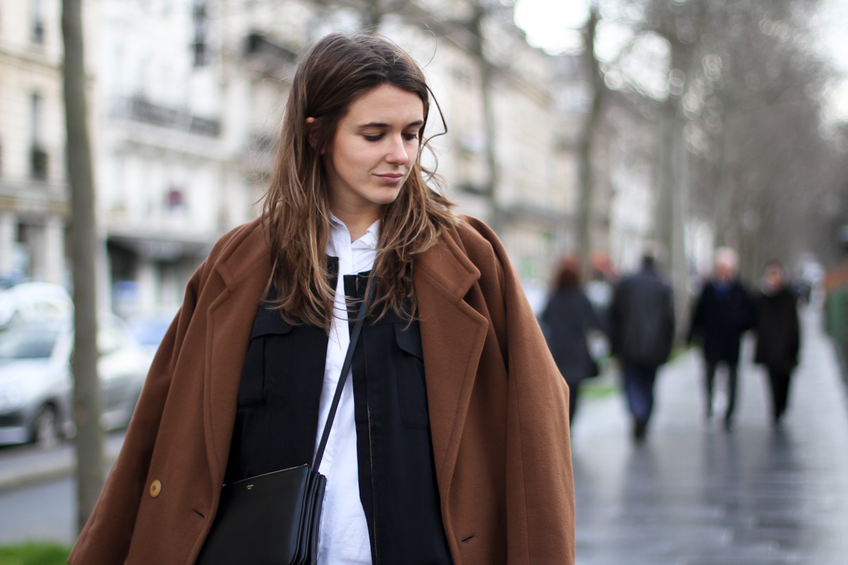 clochet - outfit - streetstyle - paris - brown long coat - mango bomber_-3