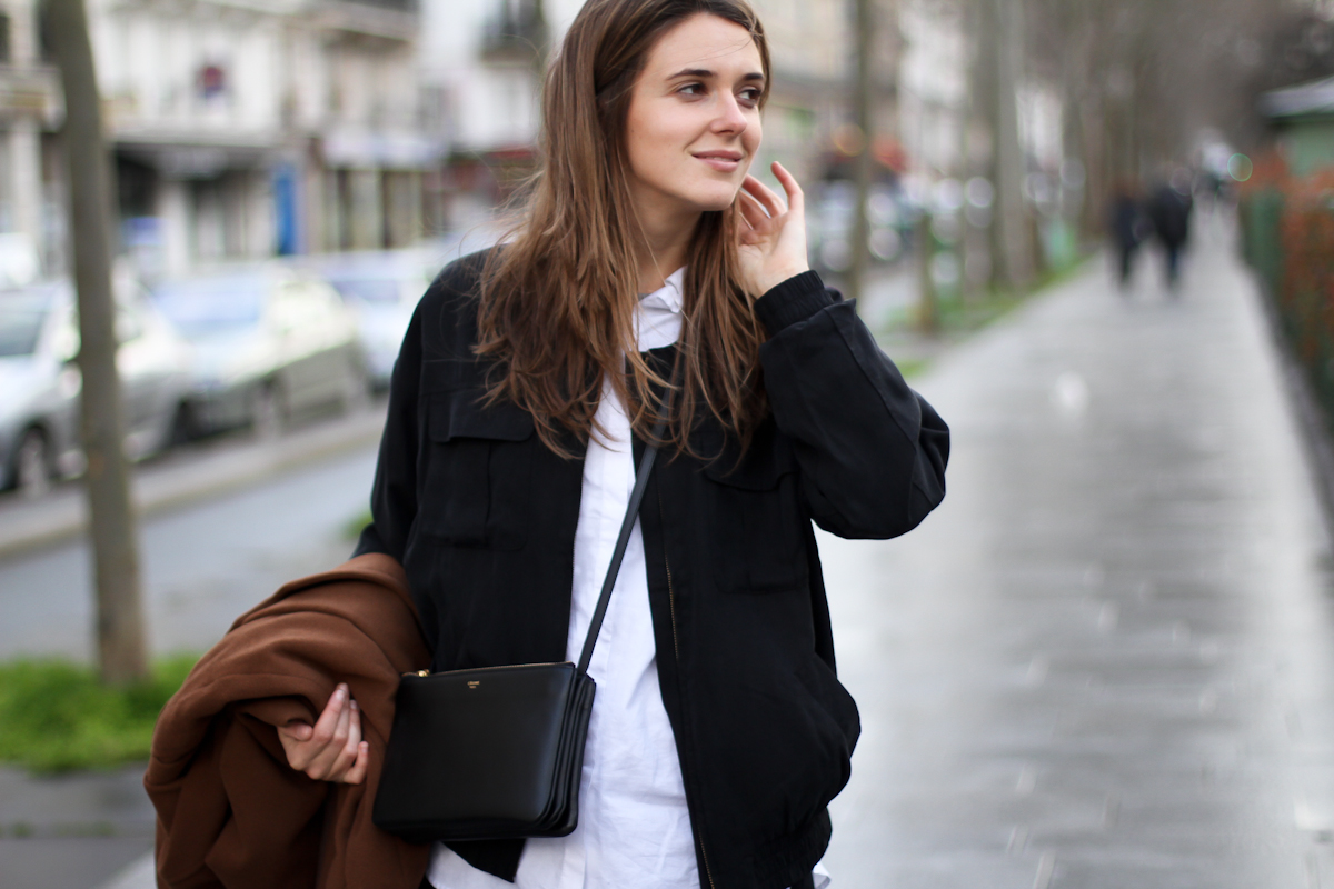clochet - outfit - streetstyle - paris - brown long coat - mango bomber_-4