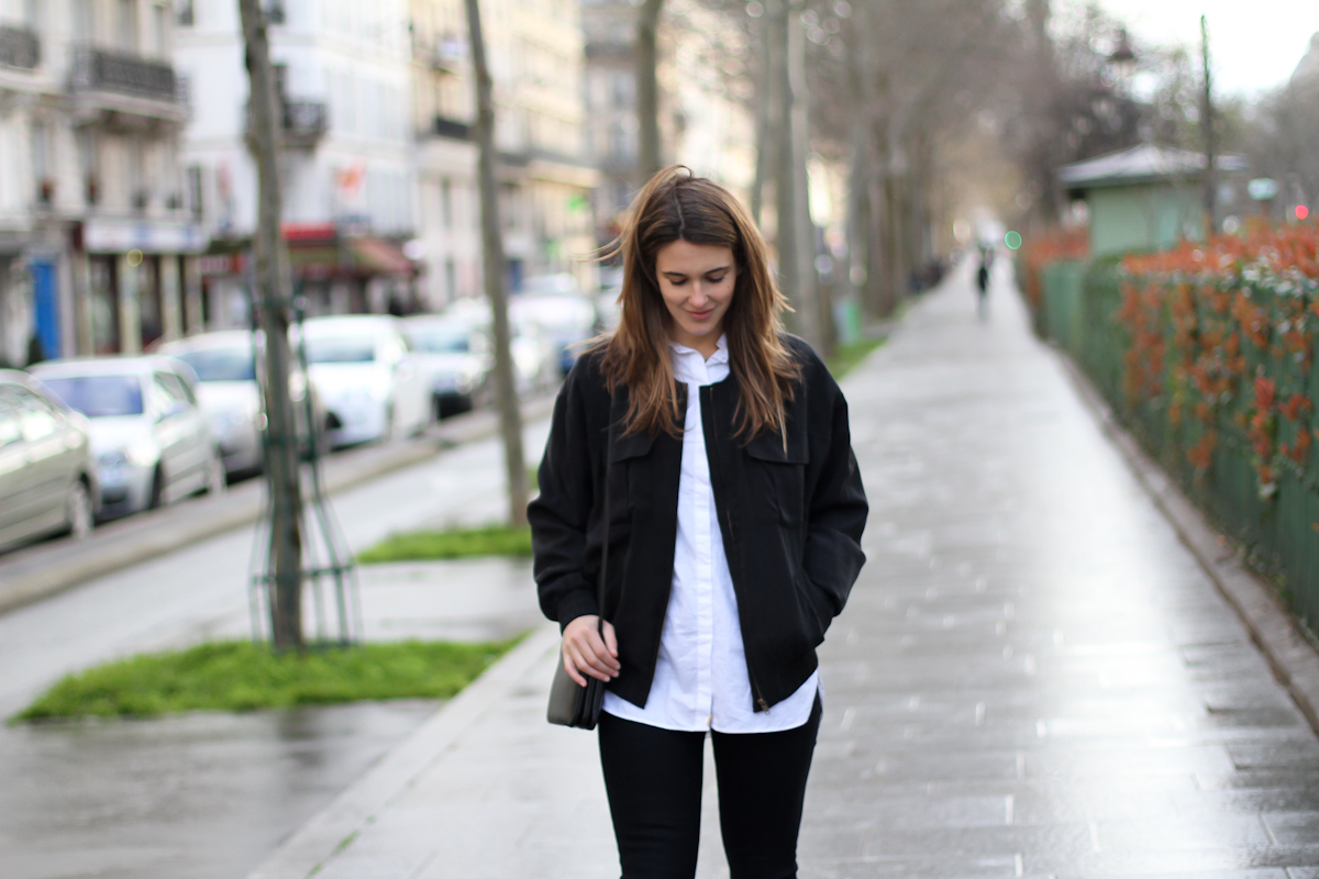 clochet - outfit - streetstyle - paris - brown long coat - mango bomber_-9
