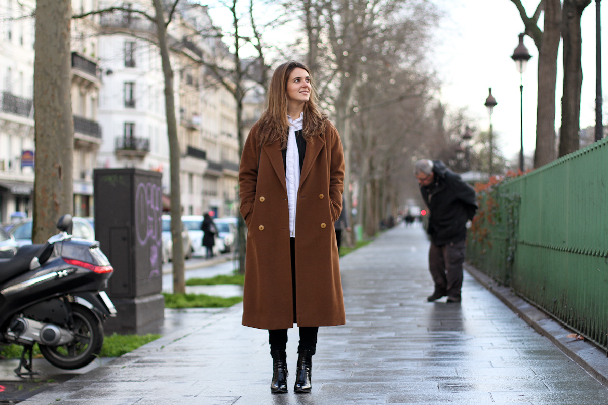 clochet - outfit - streetstyle - paris - brown long coat - mango bomber_