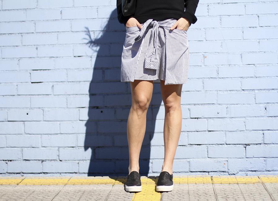 clochet - outfit - streetstyle -  zara checked dress - kenzo sweatshirt - american apparel clutch-10