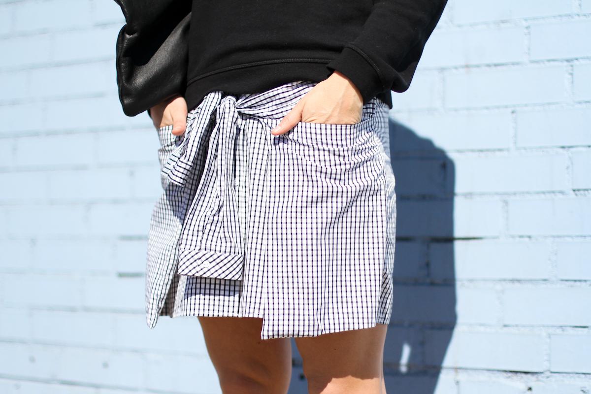 clochet - outfit - streetstyle -  zara checked dress - kenzo sweatshirt - american apparel clutch-8