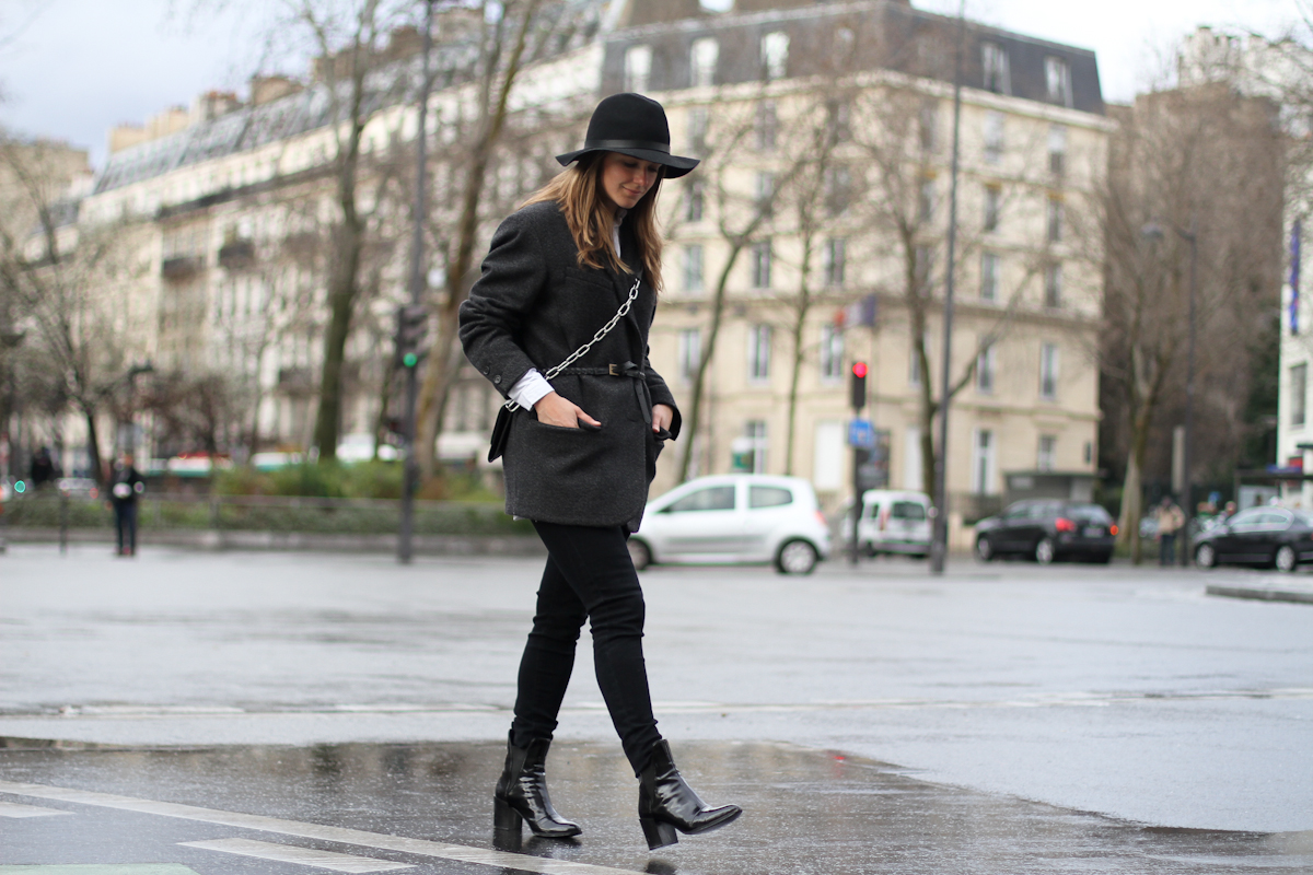 clochet - paris - acne shiloh clutch - isabel marant belted jacket - outfit - street style-3