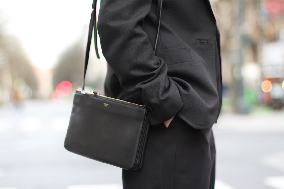 clochet - streetstyle - outfit - mango black culottes - celine trio bag - adidas stan smith-10
