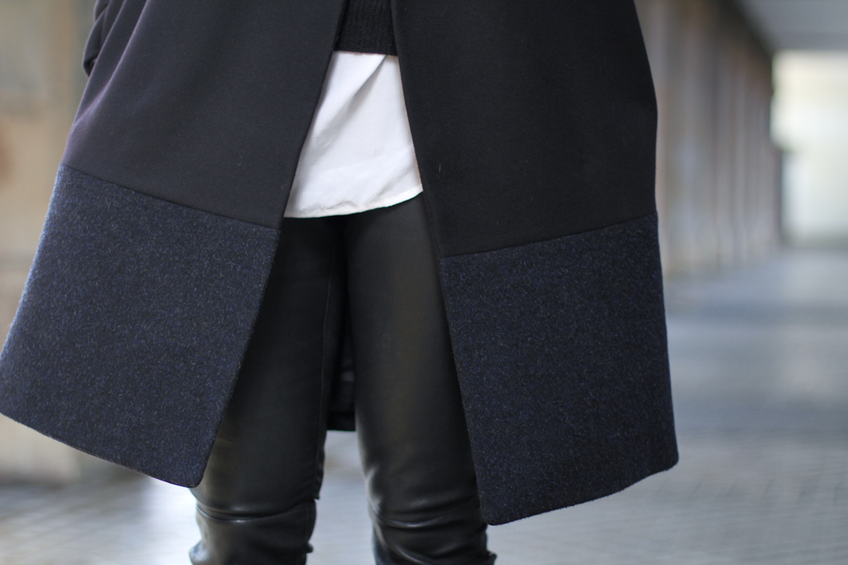 clochet - streetstyle - outfit - muubaa rica leather trousers - COS coat - celine trio bag-2
