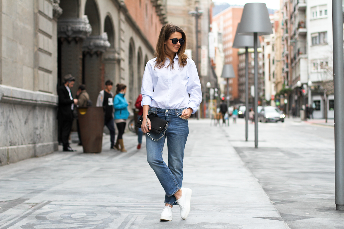 clochet - streetstyle - outfit - acne studios pop jeans - acne studios shiloh clutch - white platforms-6