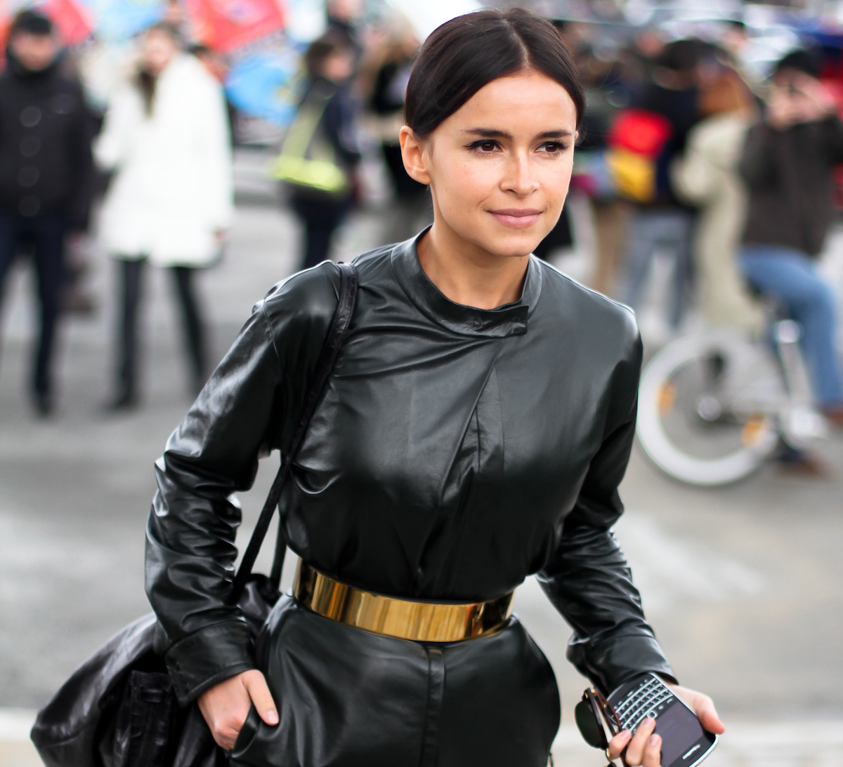 clochet - streetstyle - outfit - paris fashion week - miroslava duma -all leather- 2