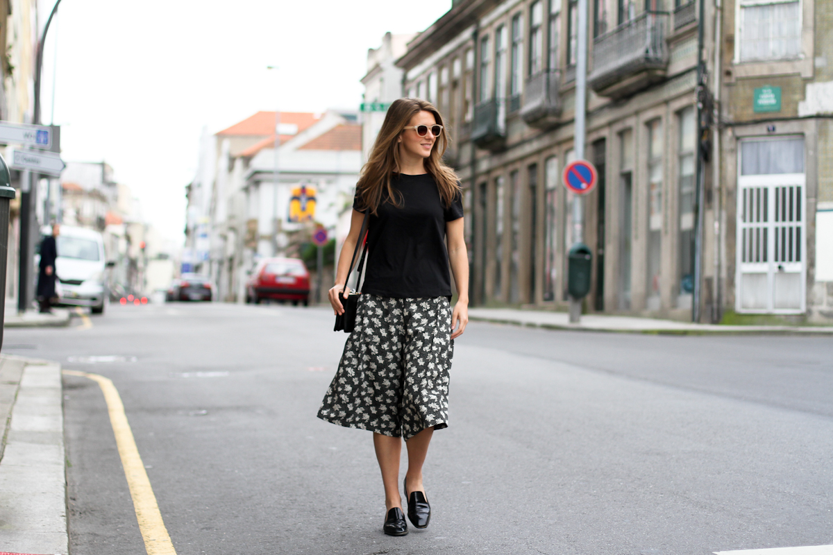 clochet - streetstyle - outfit - porto - portugal - h&m trend printed culottes - celine trio bag-13
