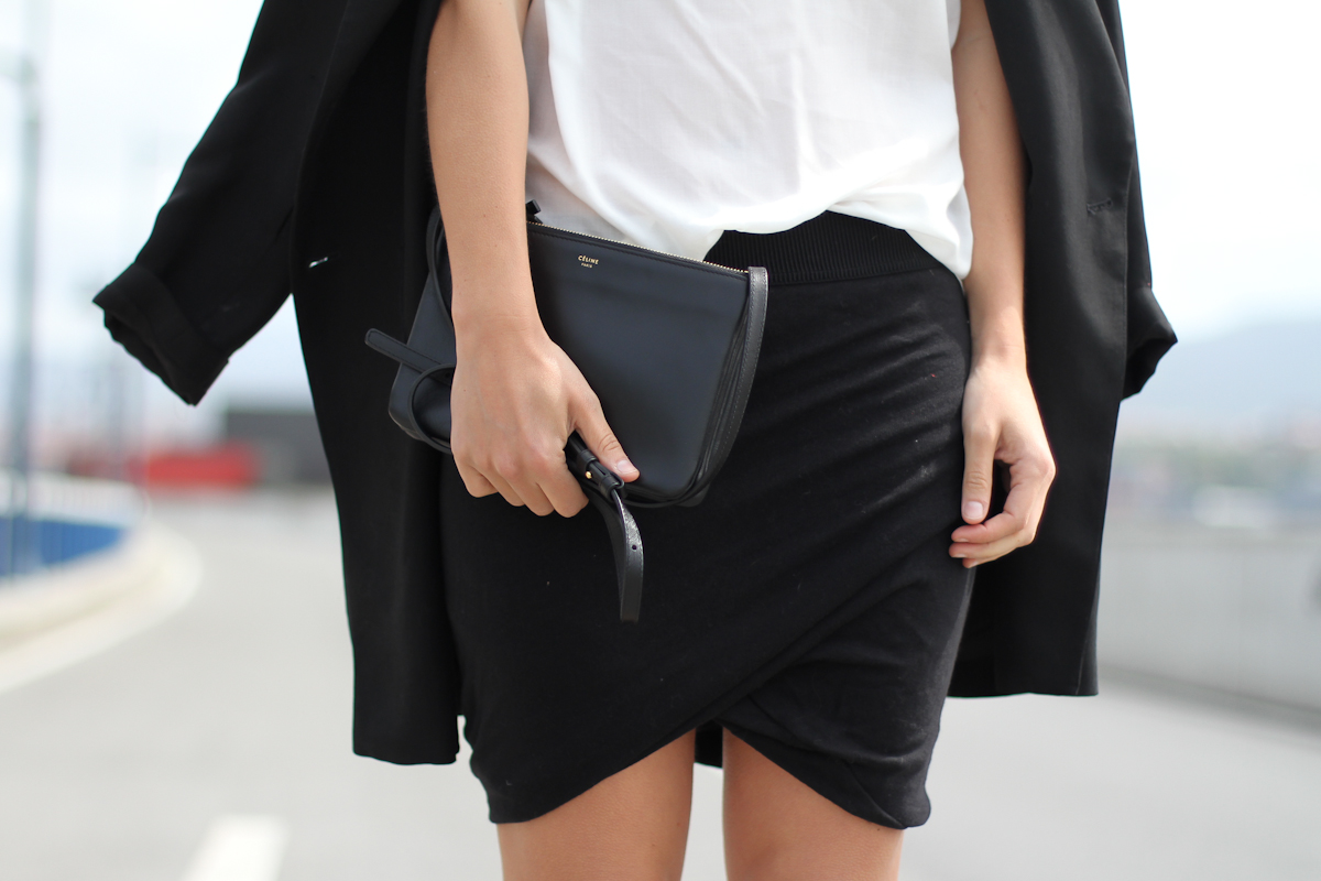 clochet - outfit- streetstyle - wrap skirt - celine trio bag - white shirt-4