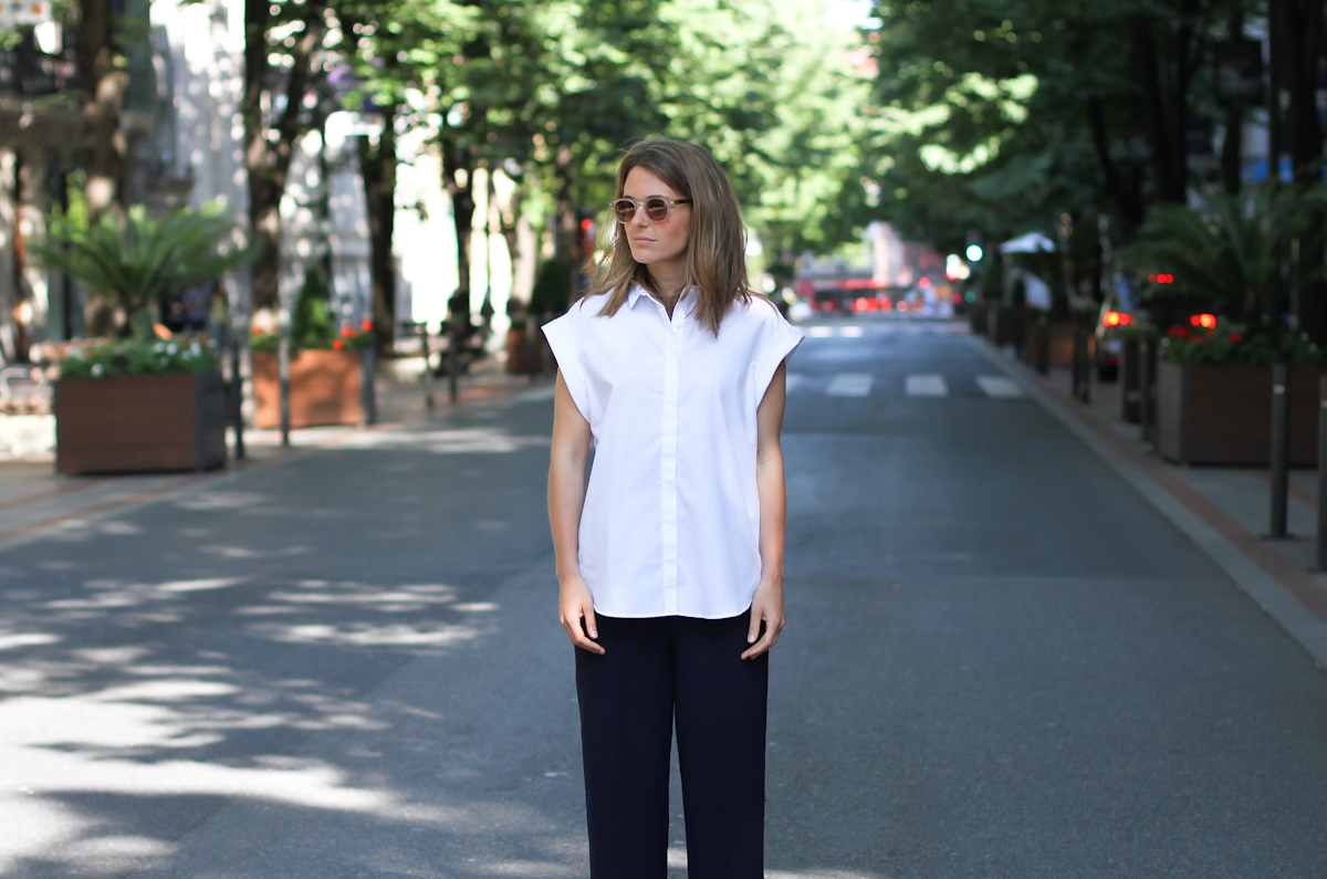 clochet - streetstyle - outfit - zara white platforms - cullottes - white structured shirt-6