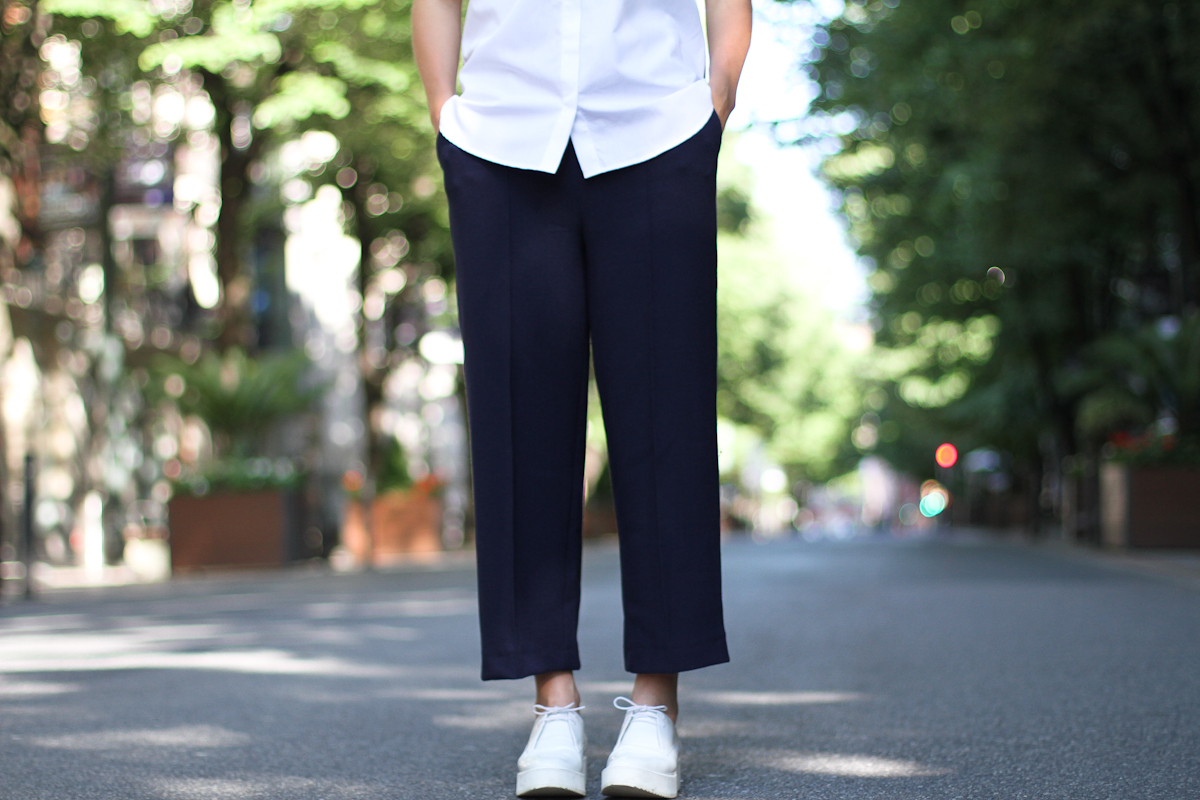 clochet - streetstyle - outfit - zara white platforms - cullottes - white structured shirt-8