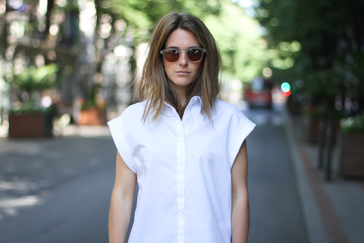 clochet - streetstyle - outfit - zara white platforms - cullottes - white structured shirt