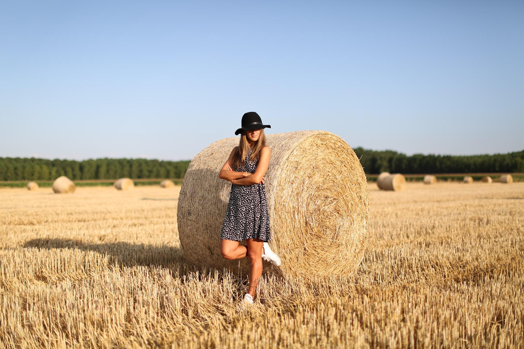 Clochet_mango_printed_mini_dress_fedora_hat_adidas_stan_smith_-2