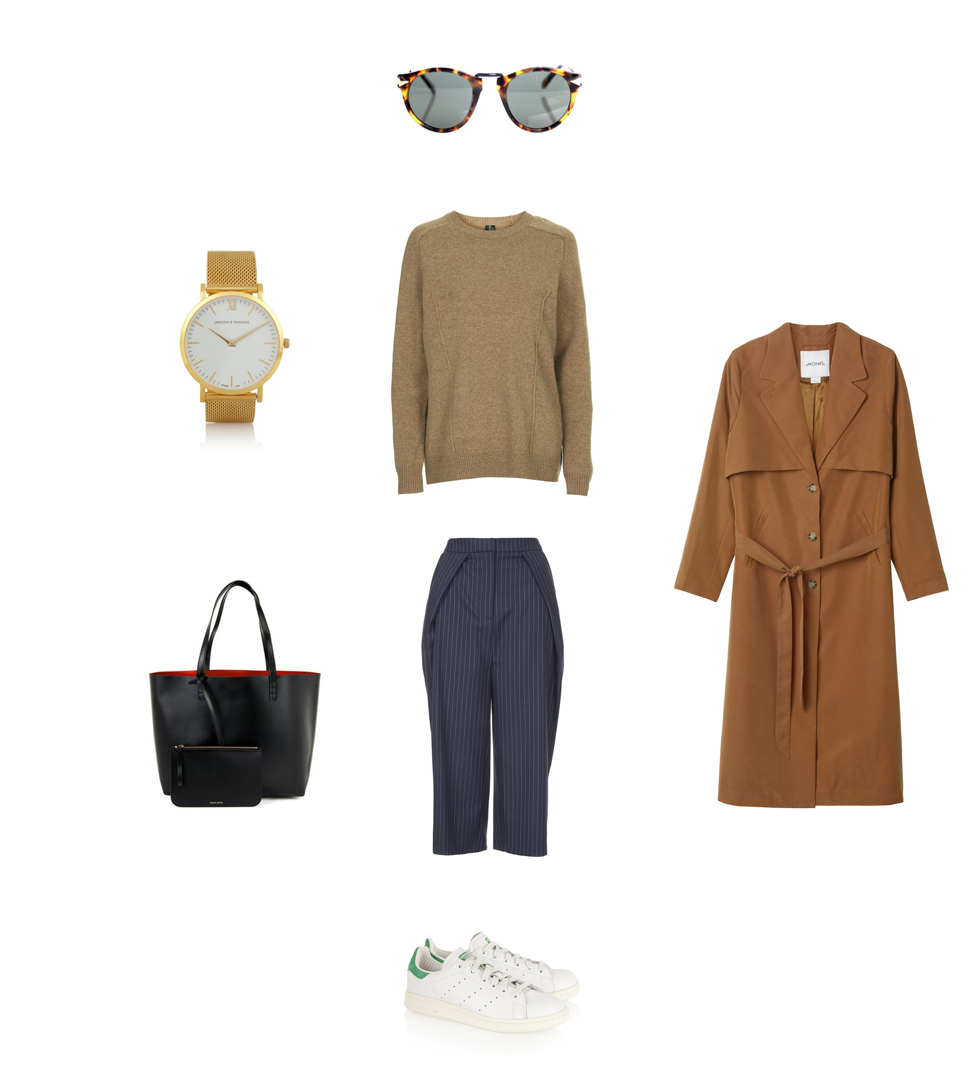 Clochet-adidas-stan-smith-mansur-gavriel-shopping-bag-monki-duster-coat-karen-waler-sunnies_