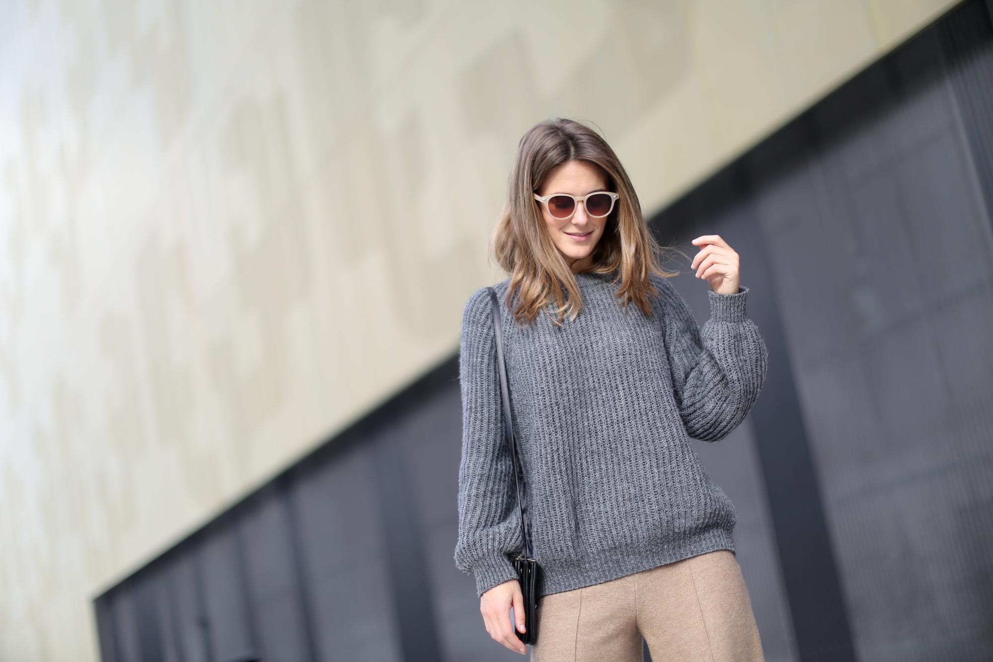 Clochet-streetstyle-zara-beige-wool-culottes-grey-chunky-knit-7