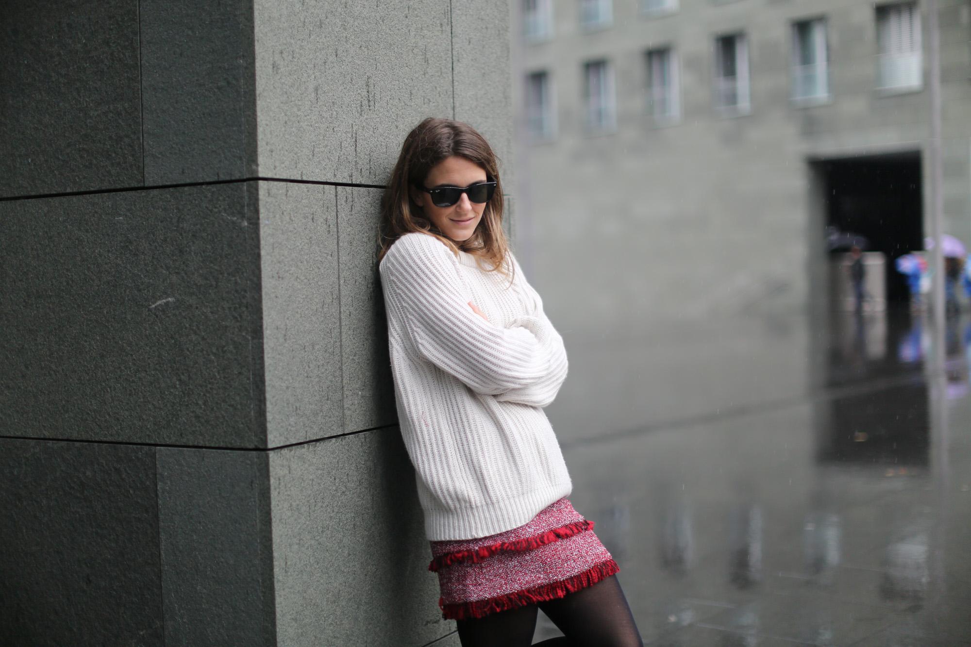 Clochet-streetstyle-mango-tweed-mini-skirt-chunky-knit-lykke-ly-loafers-3