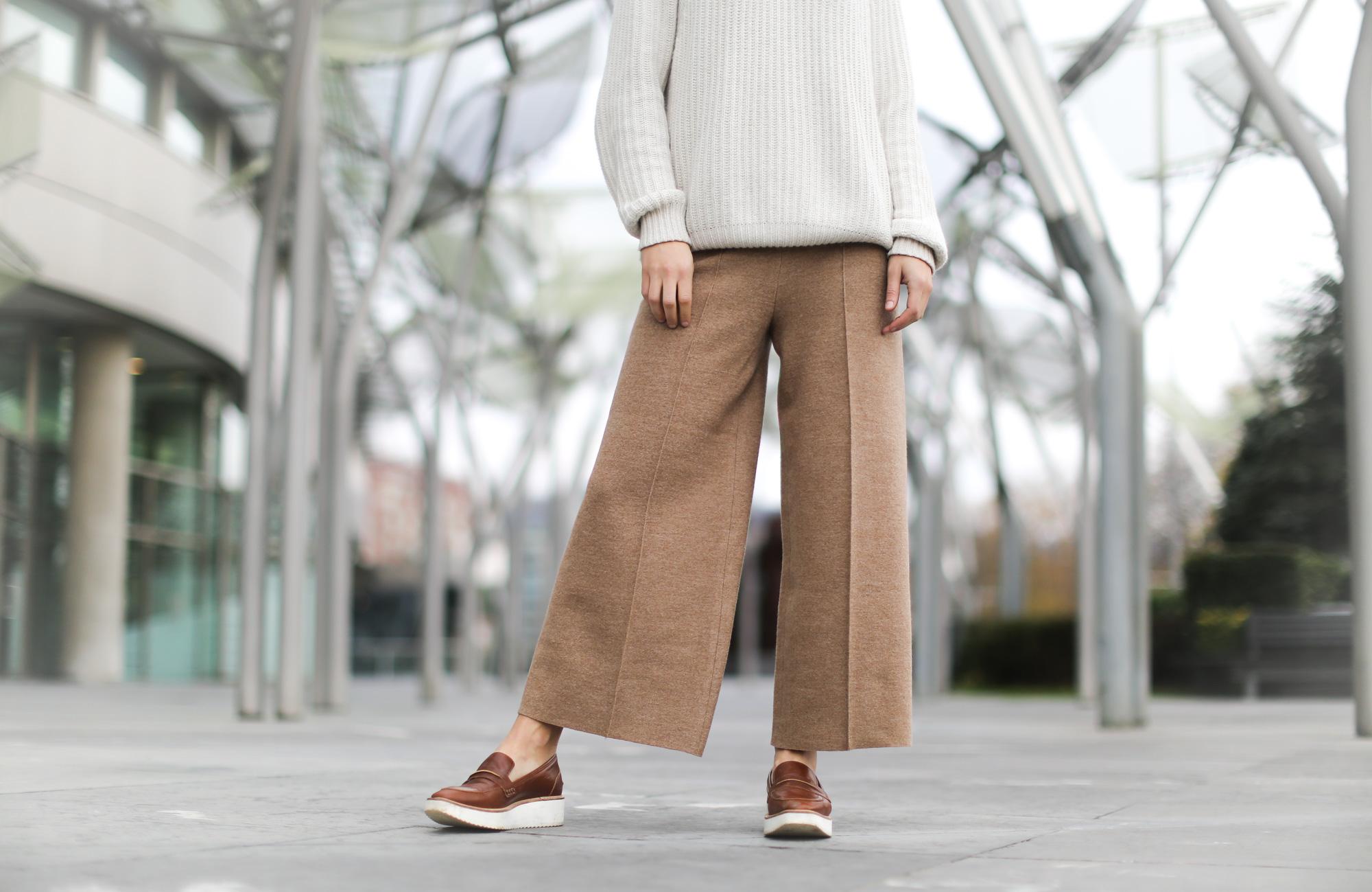 Clochet-streetstyle-szara-camel-wool-culottes-platforms-beige-knit-8