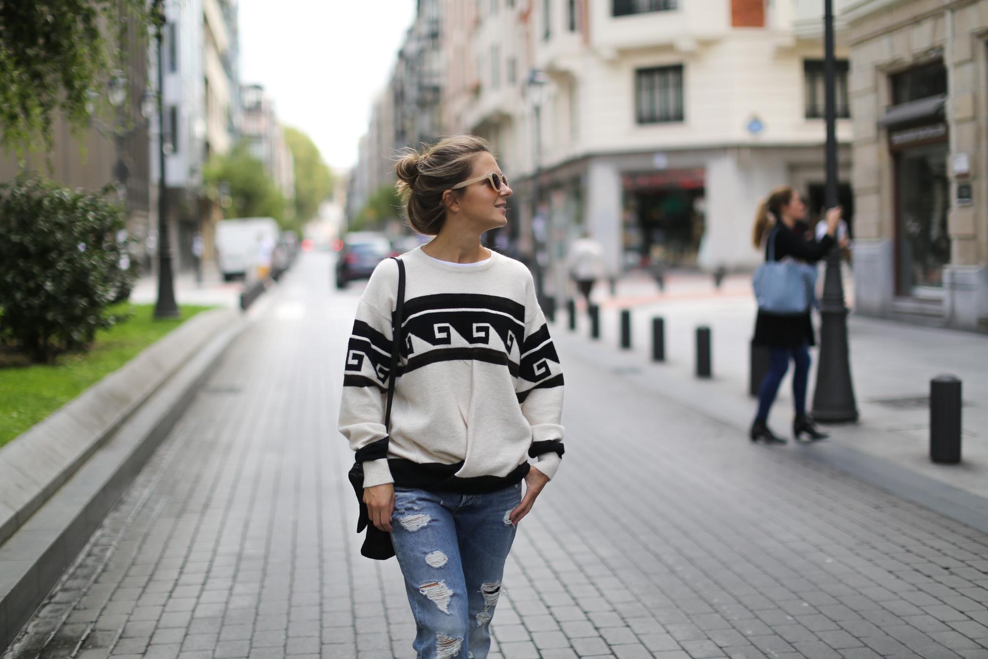 zerrissener jeans n gemütlichen stricken akne studios adidas adidas stan smith
