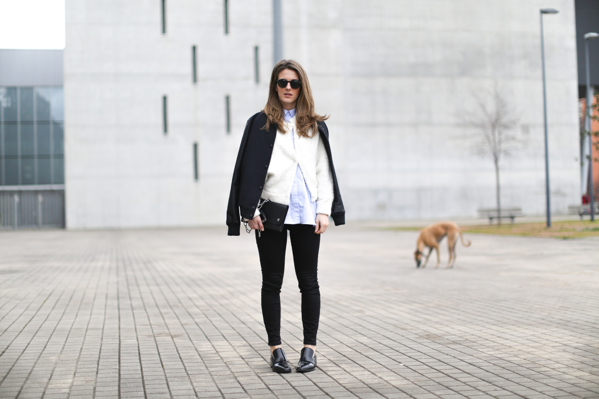 Clochet-streetstyle-h&m-trend-alpaca-wool-white-bomber-3
