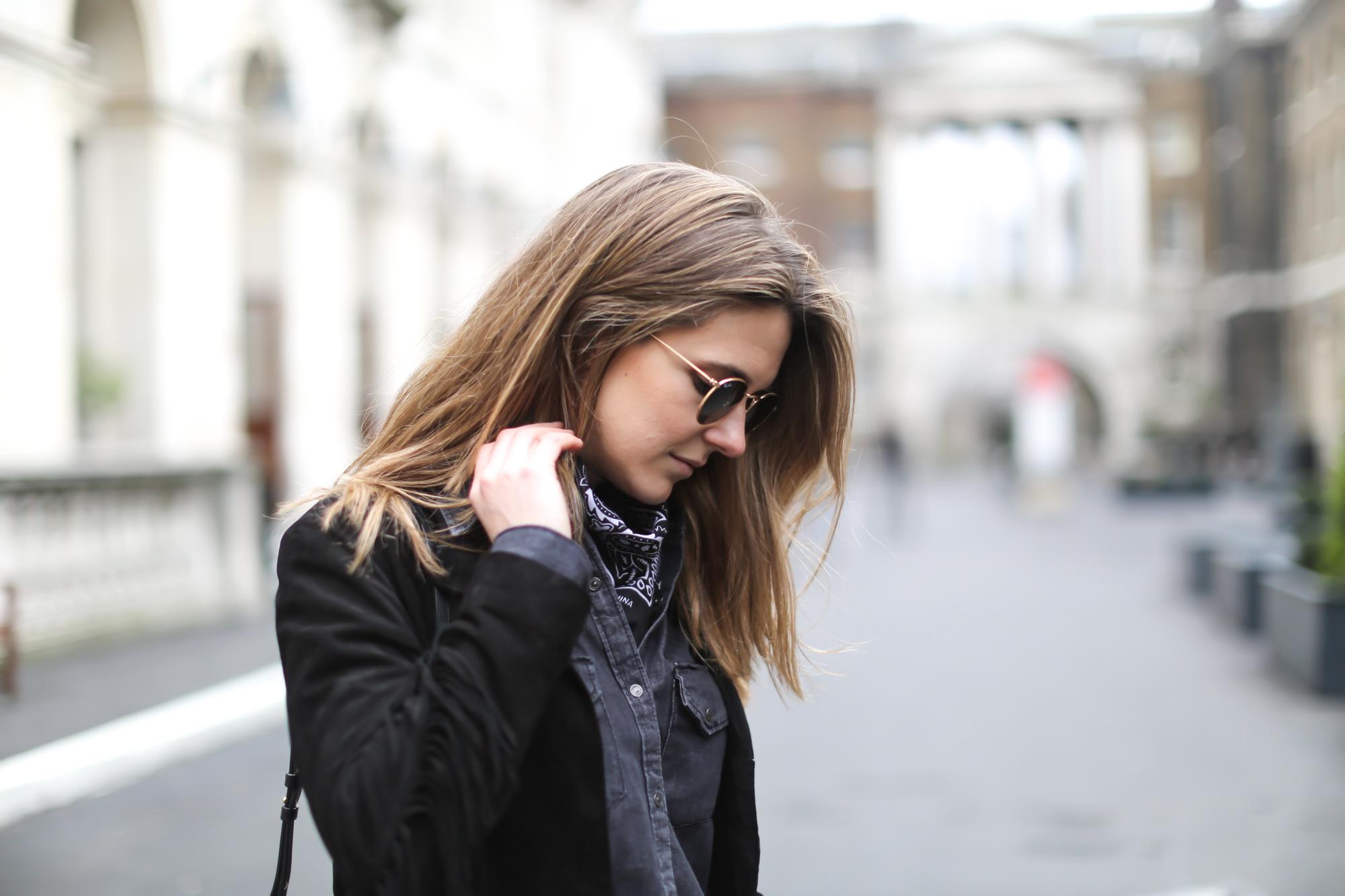 Clochet-streetstyle-lfw-london-fashion-week-maje-fringed-suede-jacket-cowboy-boots-7