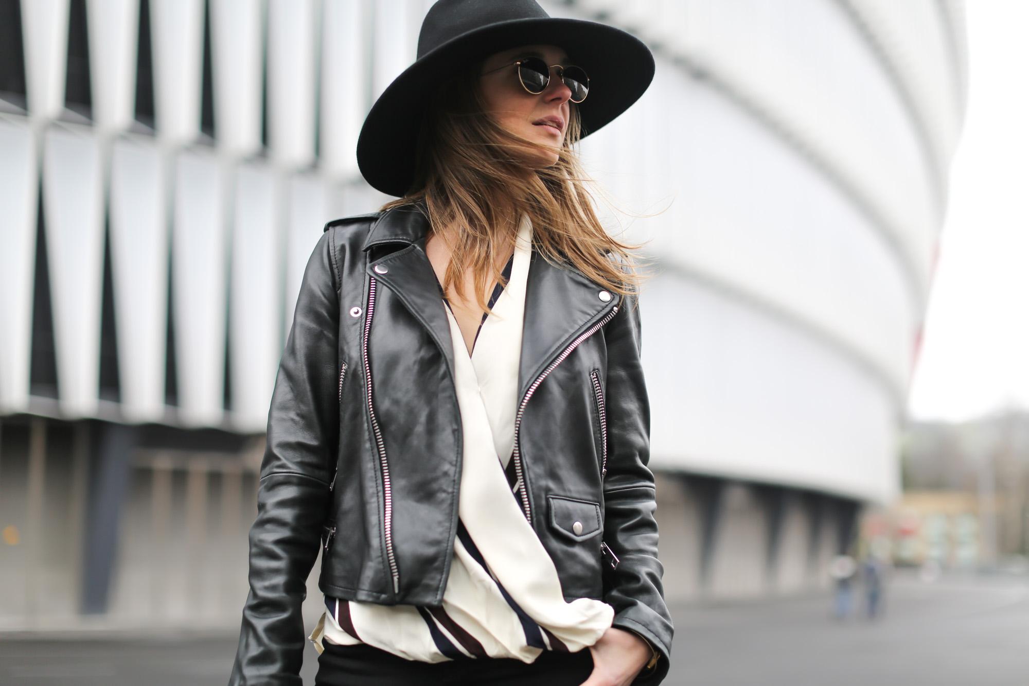 Clochet-streetstyle-topshop-shirt-fedora-hat-mango-leather-biker-jacket-8