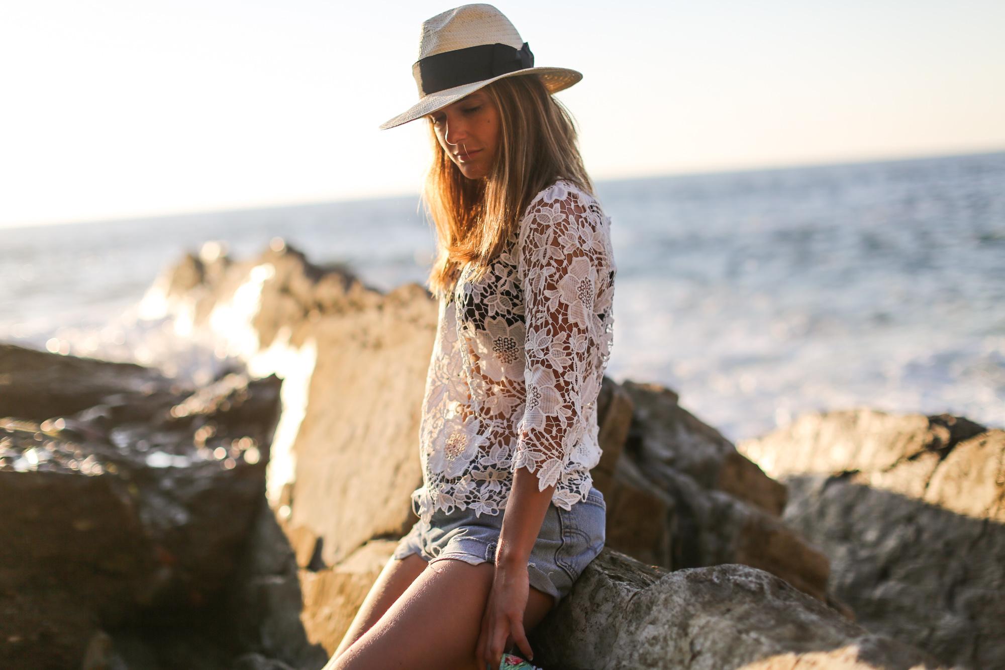 Clochet-streetstyle-vintage-levis501-crochet-top-fedora-straw-hat-5