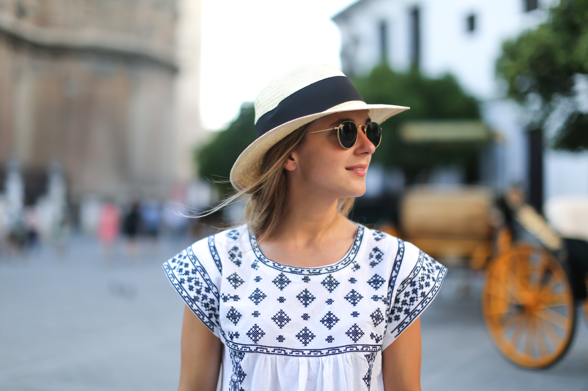 Clochet_streetstyle_chicwish_ethnic_boho_dress_fedora_straw_hat-3