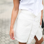 Quilted wrap skirt