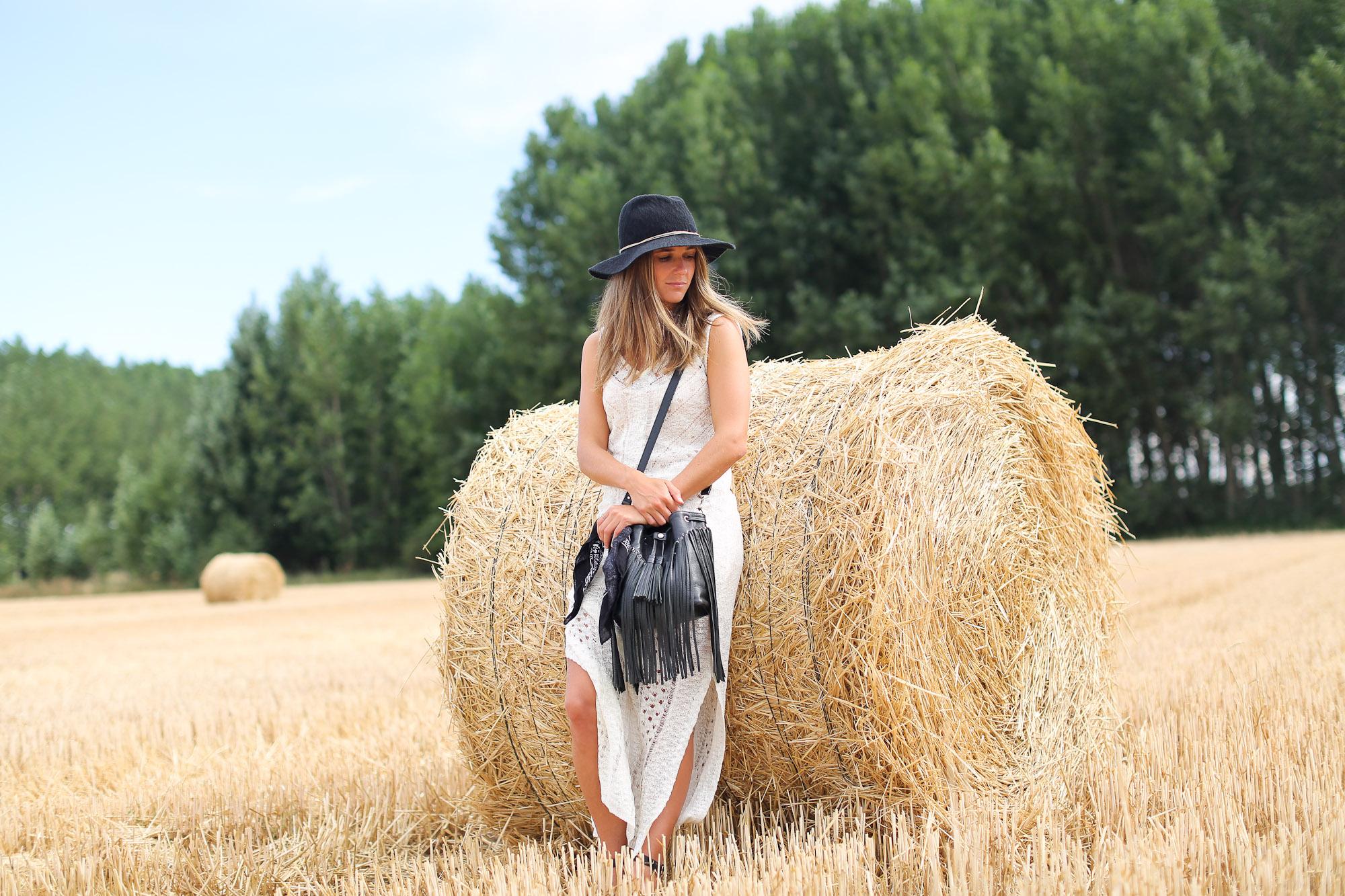 Clochet_sandro_anik_leather_Bag_long_crochet_dress_fedora_hat-3