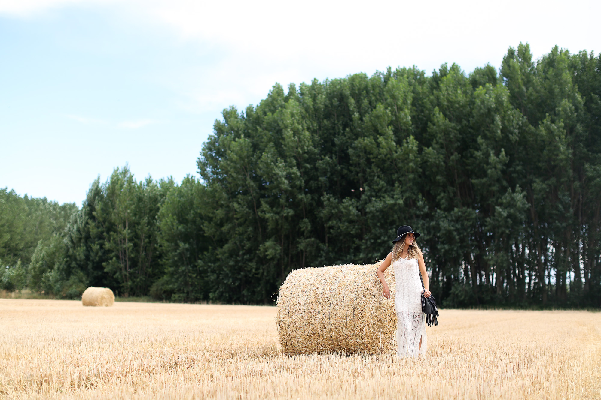 Clochet_sandro_anik_leather_Bag_long_crochet_dress_fedora_hat