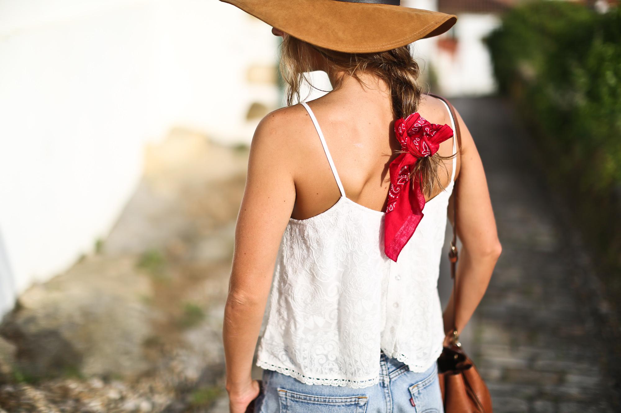 Clochet_streetstyle_levis_501_vintage_shorts_leather_fedora_hat-3