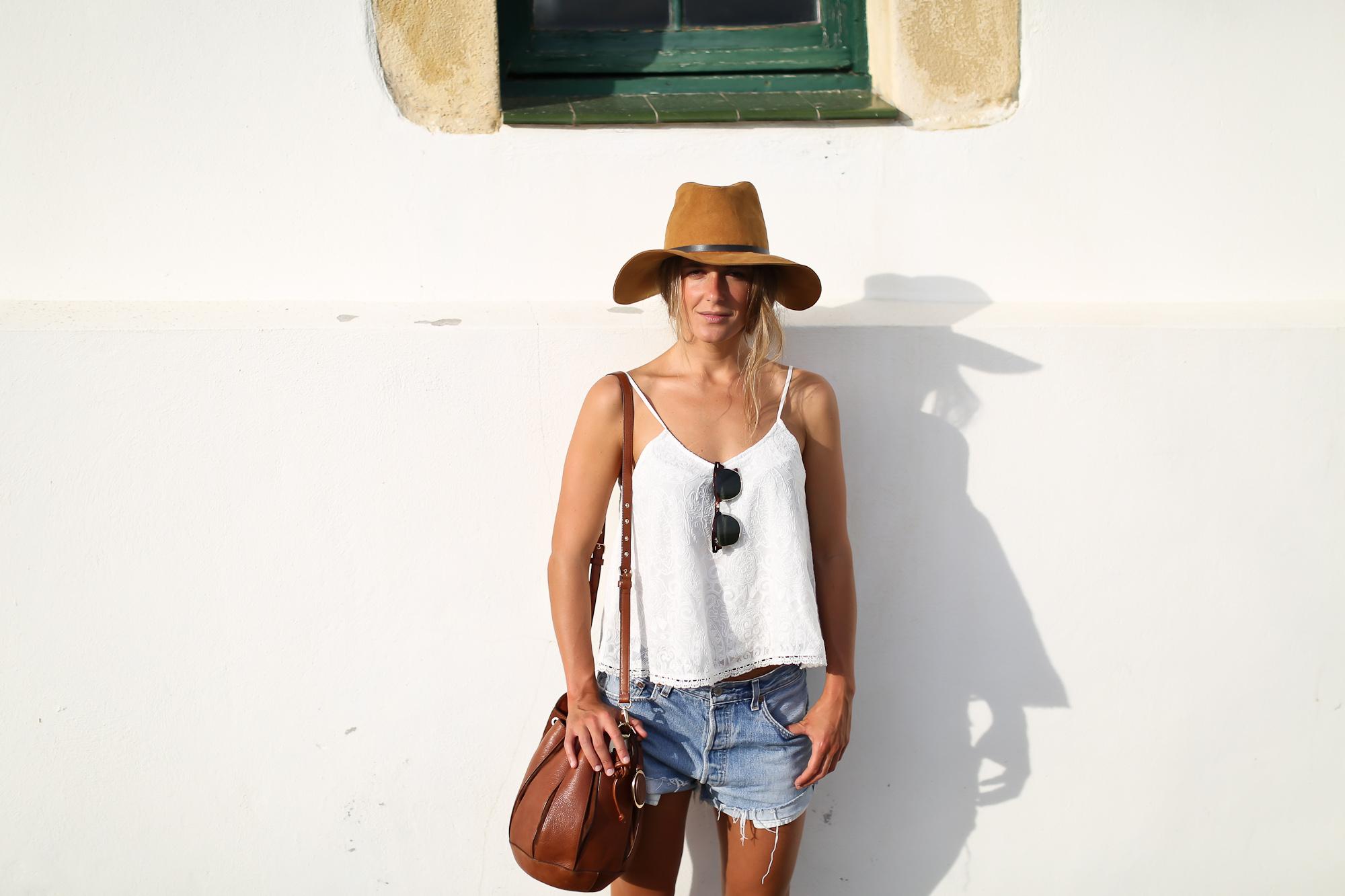 Clochet_streetstyle_levis_501_vintage_shorts_leather_fedora_hat-8
